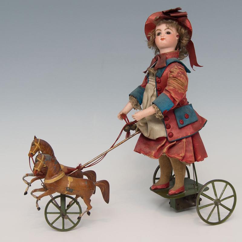franz. Puppenautomat Vichýmit Pferden Zuschlag: 2.600 €